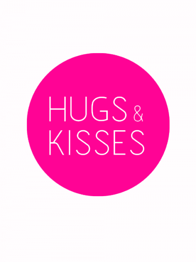 hugs_kisses_roze etiket
