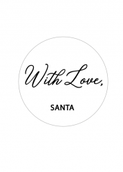 with love santa sticker